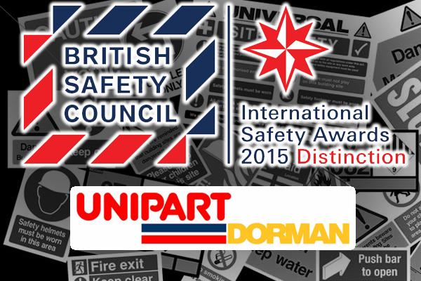 Unipart Dorman   International Safety Awards Distinction