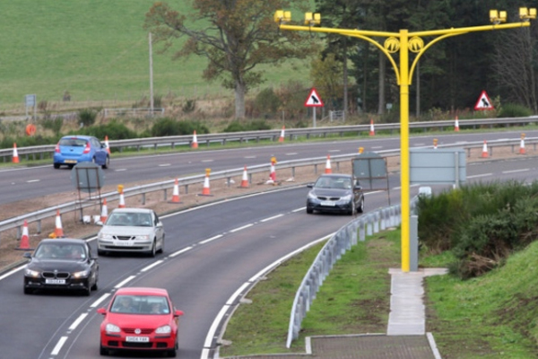 Motorist removes number plate to avoid getting caught by average speed cameras
