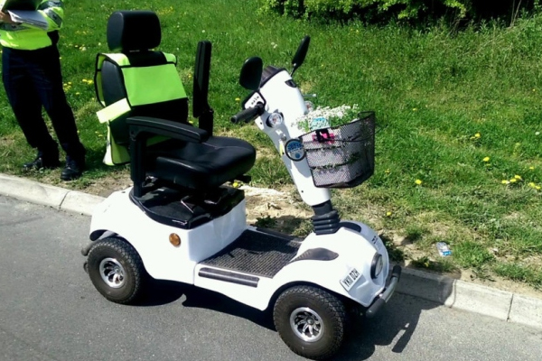 Pensioner takes mobility scooter on M1