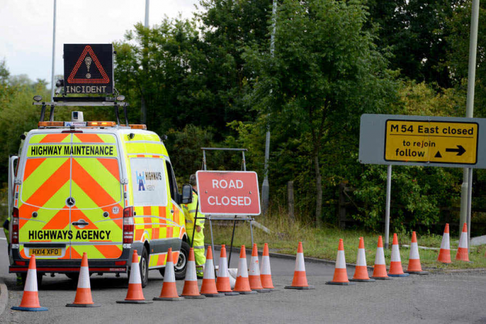 Human skull and skeletal remains found by side of M54