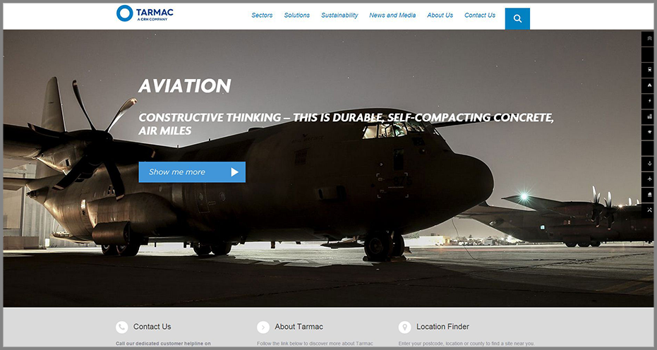 Tarmac-Homepage