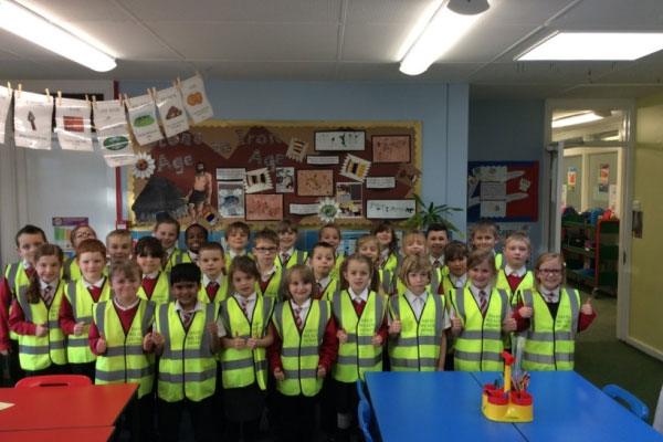 High visibility vests donated to Doncaster school to ensure road safety