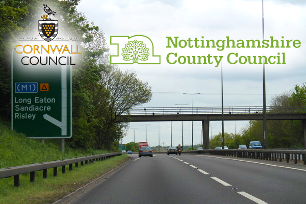 Cornwall and Nottinghamshire County Councils launch new joint highways company