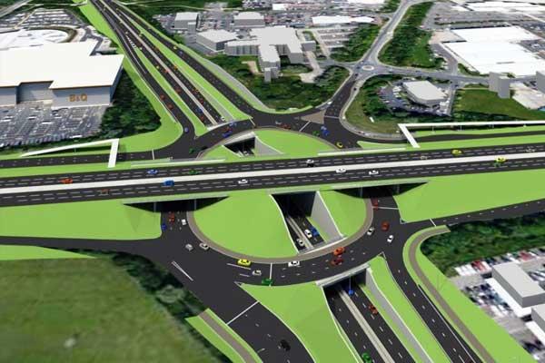 Triple-decker-roundabout