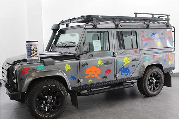 Eurosigns vehicle livery design to showcase V-8000 reflective material