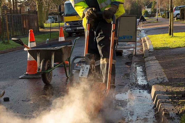 Hertfordshire County Council's new inspection team tackles potholes and cuts costs