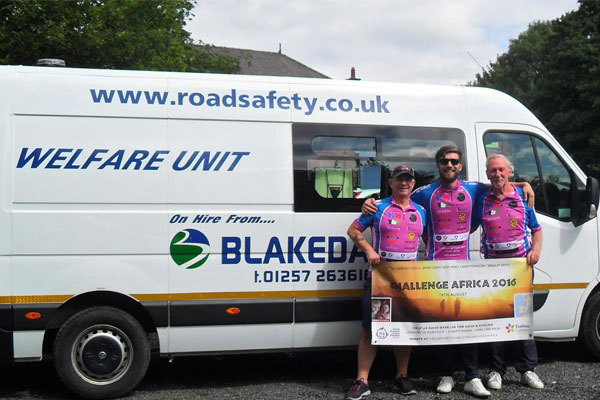 Blakedale | Welfare Vehicle on tour