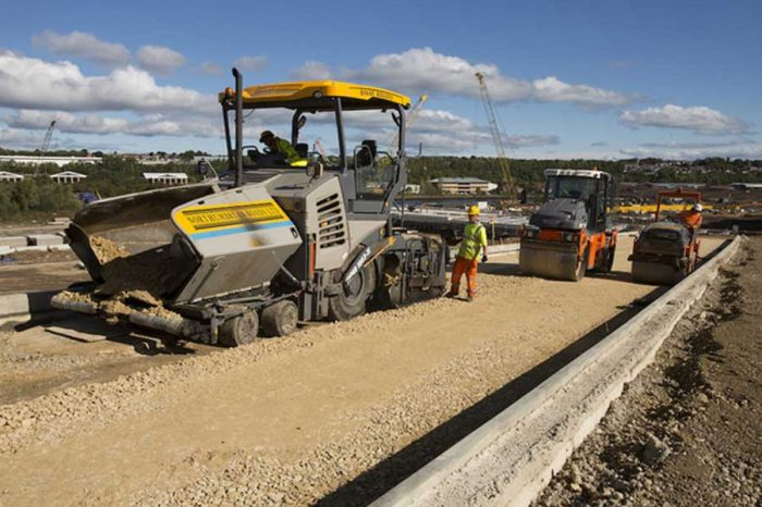 Laying down of the new road begins on Sunderland's new bridge