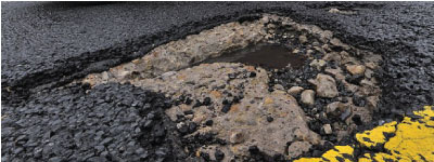 road safety self healing roads