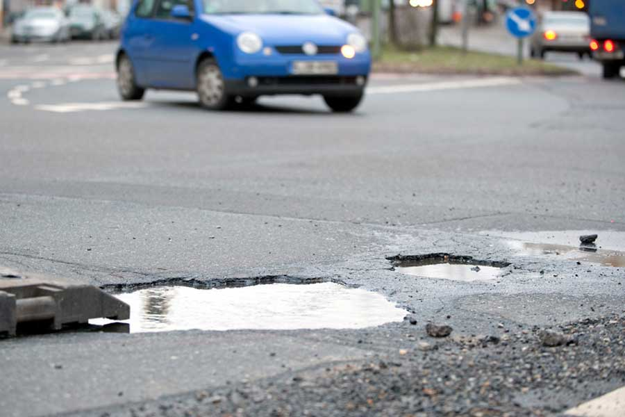 Image of Potholes on a road