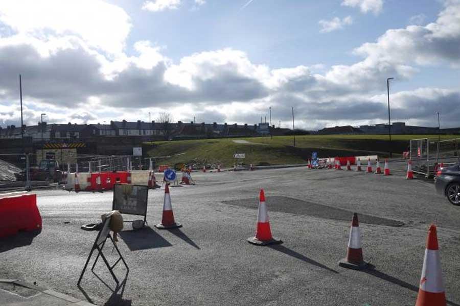 Image of roadworks at Pallion Junction
