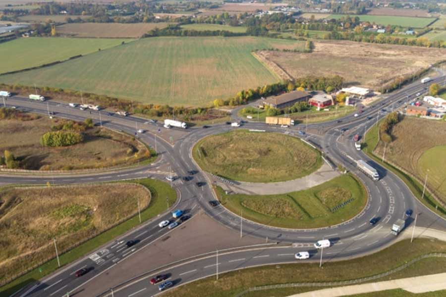 Image of Black Cat roundabout