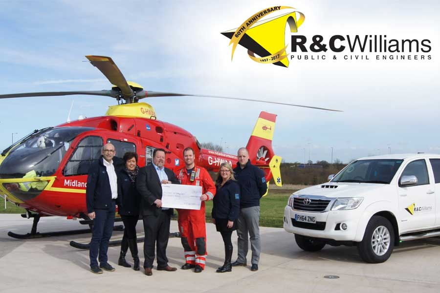 Image of R7C Williams with the Air Ambulance