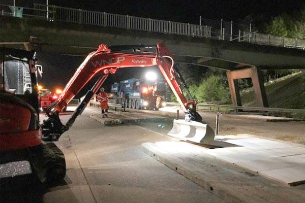 Image of A12 Bridge repair work