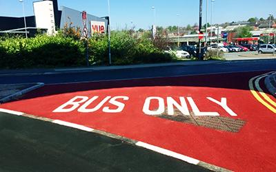 Meon Bus Stop Marking