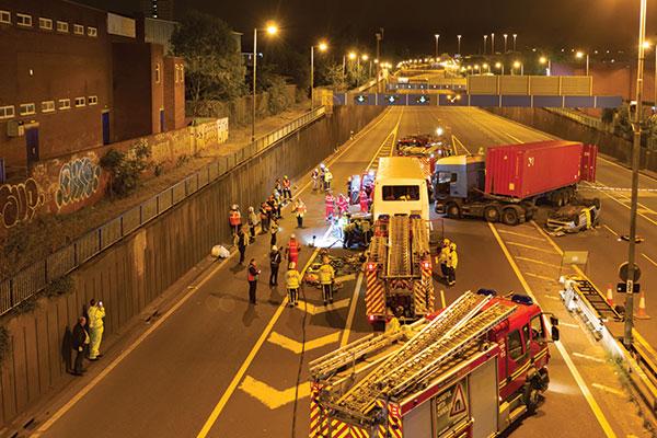Highways England supports training exercise in Birmingham