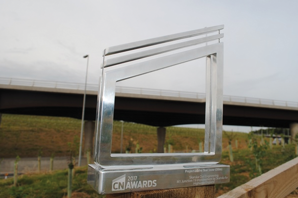 McCann scoops award for role in M1 Junction 19 project