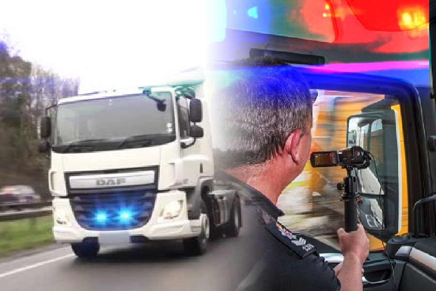 Eating dinner, reading and using a phone – unmarked lorry catches 137 drivers…..