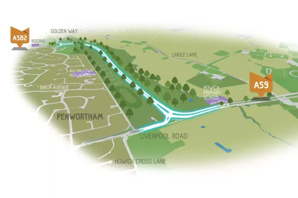 £17.5m Penwortham bypass given the go-ahead