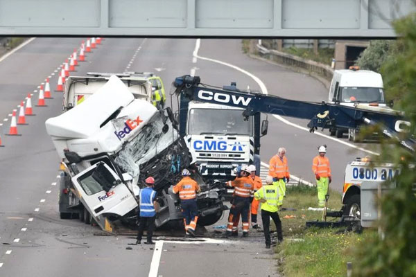 Lorry driver due in court after M1 crash