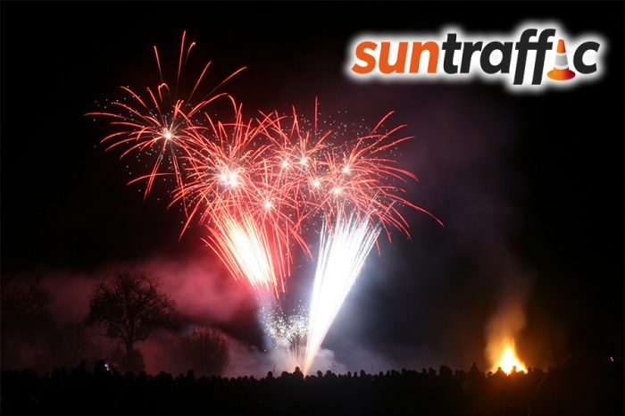 Sun Traffic | Hatch Fireworks - Taunton Racecourse - Somerset 2017