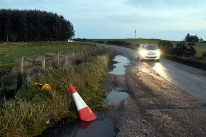 130 potholes found in 2 mile stretch of road
