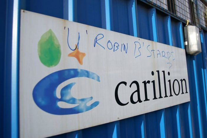 The government is paying millions of pounds a day to keep Carillion public sector projects going