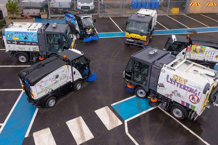 Hounslow Highways | Unveiling new sweeper fleet with designs by local school children