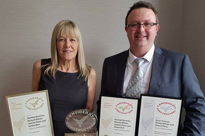 Eurovia Contracting   Winner of four Considerate Constructor Awards