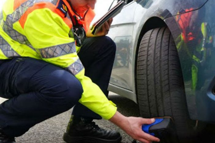 Cheshire firefighters and Highways England team up to offer free tyre safety checks