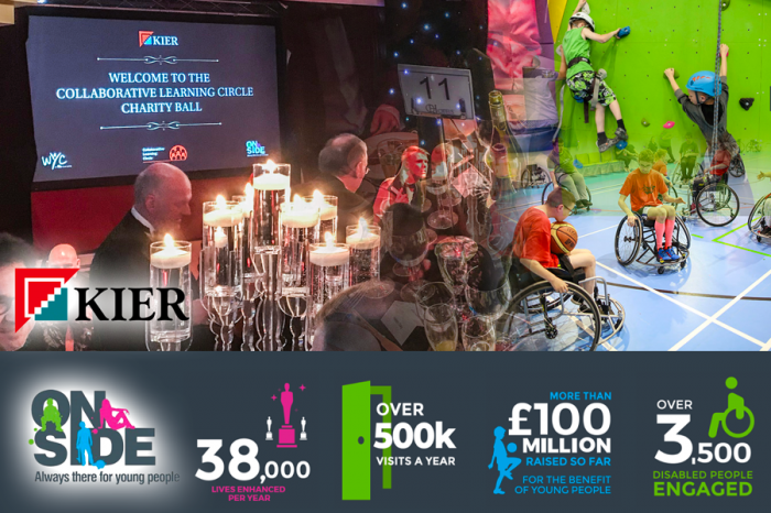 Kier raise over £500k for OnSide charity in support of young people
