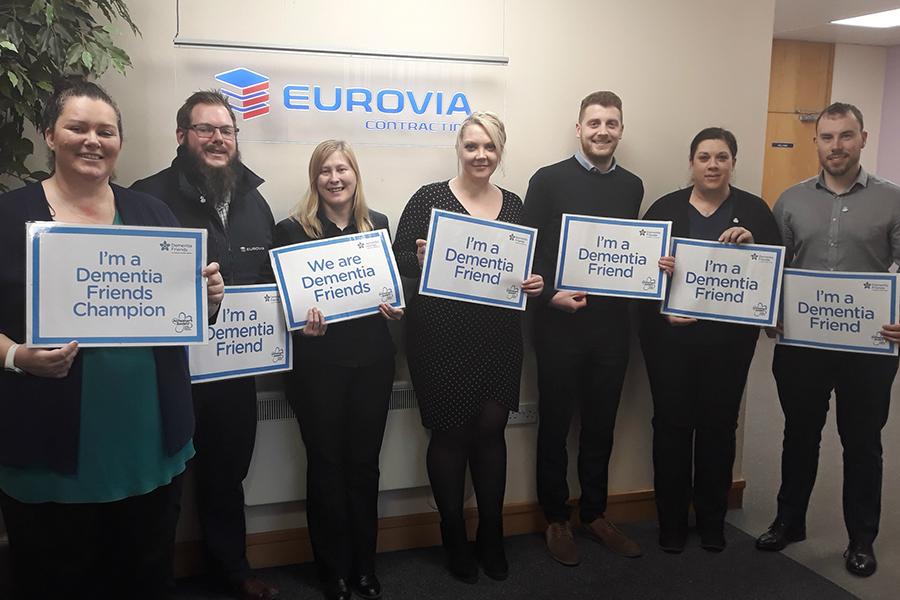 Eurovia staff hail Dementia Friends in Dementia Action Week