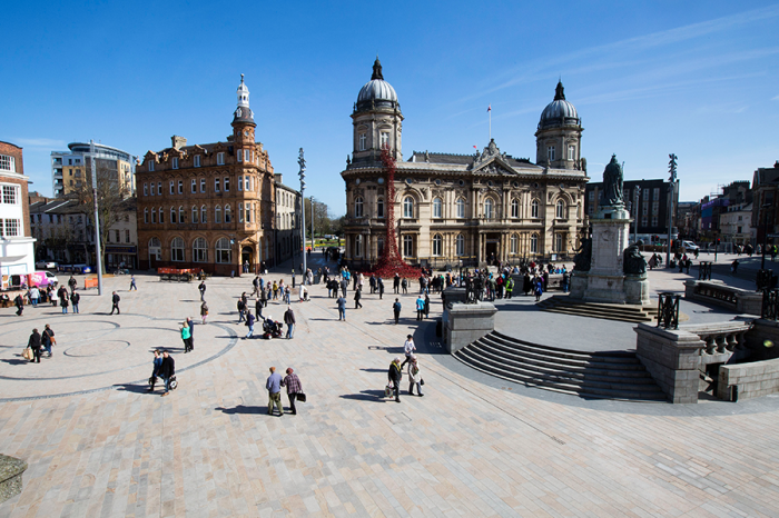 Eurovia Contracting | Highly Commended at prestigious CIHT Major Project Awards for £25m Hull public realm scheme