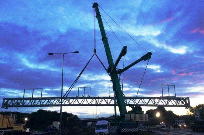 M6 set for giant gantry as part of smart motorway
