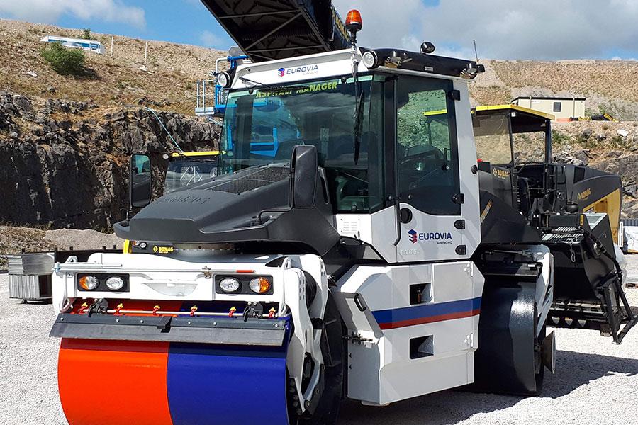 Eurovia Surfacing | Adding new BOMAG roller to its fleet
