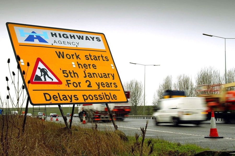 Roadwork speed limits on motorways could be increased on Sundays.......