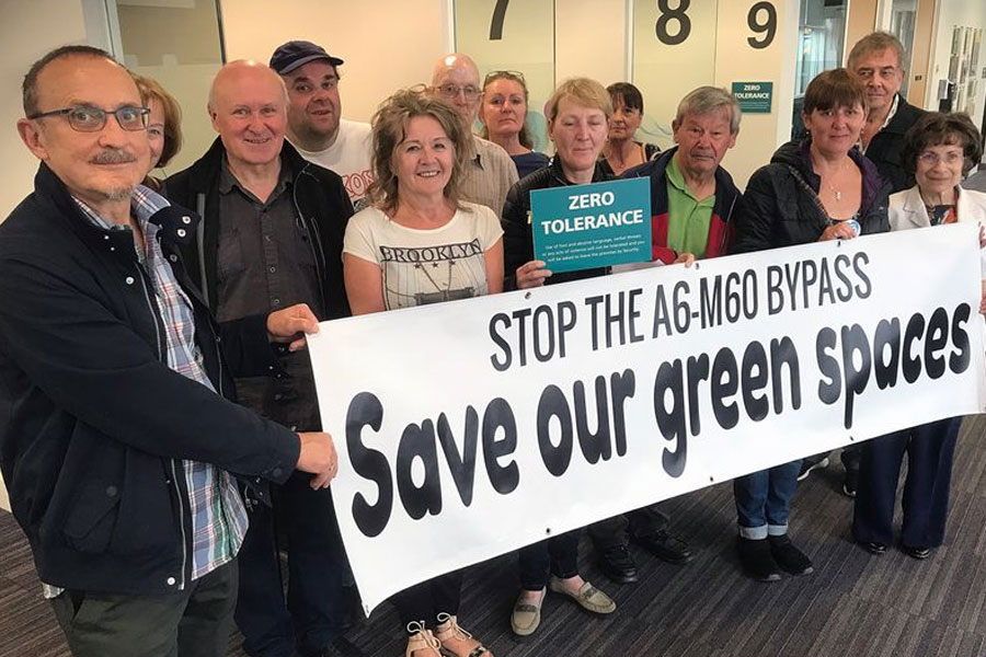 Protesters from the Goyt Valley SOS group (Image: UGC)