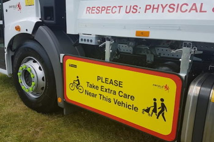Enfield Council protects vulnerable road users with PeoplePanels side protection for trucks