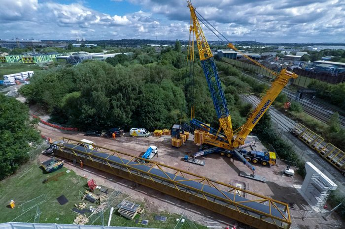 Eurovia Contracting | Improving access for pedestrians and cyclists with Nottingham footbridge installation