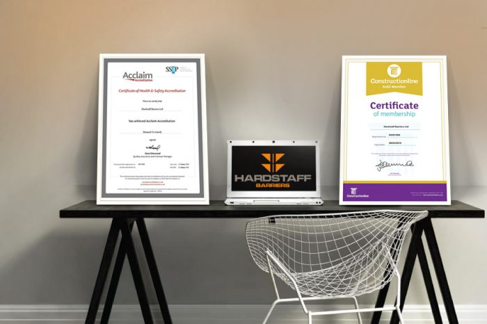 Hardstaff Barriers | Constructionline Gold accreditation sets the standard