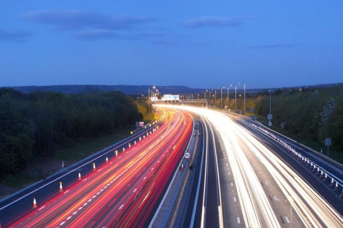 M27 closed this weekend between junctions 3 and 4
