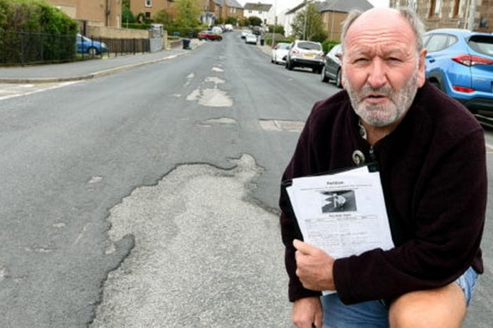 Petition launched to urge roads bosses to repair potholes in north-east town
