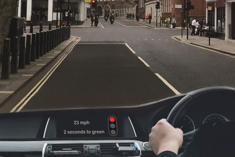 Graphic illustrates what the in-vehicle information could look like