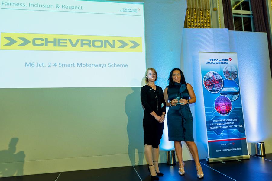 Lisa Killinger of Chevron accepts the award