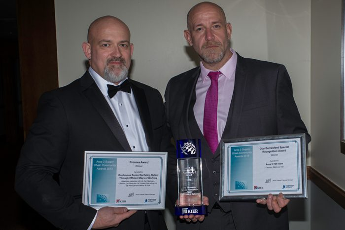 Chevron TM | The Area 3 TM team celebrate success at the Kier supply chain community awards 2018