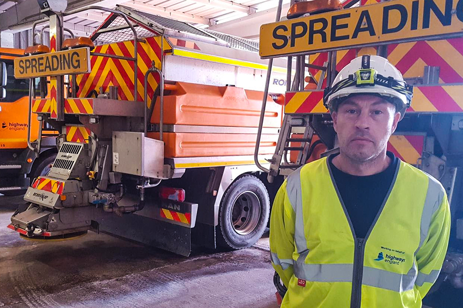 Despite their colossal size, Highways England gritters are still being crashed into