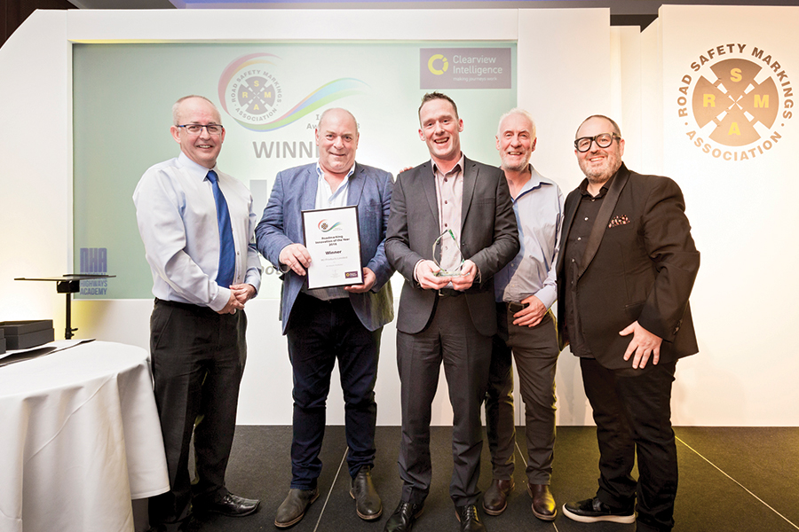 WJ receives it's second award for Road Marking innovation
