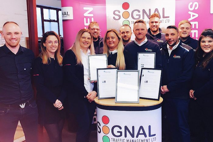 Signal TM | First Traffic Management Company to Achieve ISO 45001 from Alcumus ISOQAR