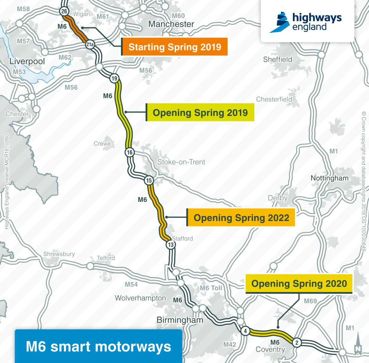 Motorway Map Of England.England S First Motorway Turns 60 With Major Technology Upgrade