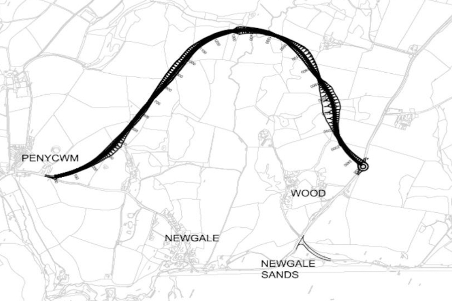 Proposed new road to bypass Newgale in the future. PICTURE: Pembrokeshire County Council